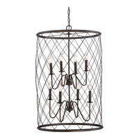 Quoizel Dury 8 Light Foyer Piece in Palladian Bronze RDY5208PN