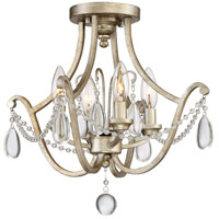Regent 4 Light 16 inch Vintage Gold Semi-Flush Mount Ceiling Light