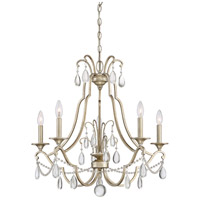 Quoizel REG5005VG Regent 5 Light 27 inch Vintage Gold Chandelier Ceiling Light