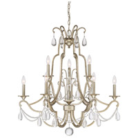 Regent 9 Light 32 inch Vintage Gold Chandelier Ceiling Light