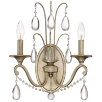 Regent 2 Light 13 inch Vintage Gold Wall Sconce Wall Light