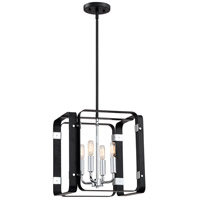 Reveal 4 Light 14 inch Earth Black Foyer Piece Ceiling Light, Square