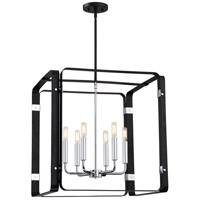 Reveal 6 Light 22 inch Earth Black Foyer Piece Ceiling Light, Square