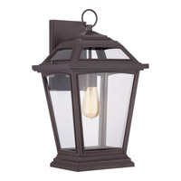Quoizel Ridge 1 Light Outdoor Wall Lantern in Western Bronze RGE8411WTFL