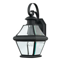 Quoizel Rutledge 1 Light Outdoor Wall Lantern in Mystic Black RJ8407KFL