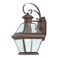 Quoizel Rutledge 1 Light Outdoor Wall Lantern in Medici Bronze RJ8407ZFL