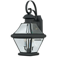 Quoizel Lighting Rutledge 2 Light Outdoor Wall Lantern in Mystic Black RJ8409K