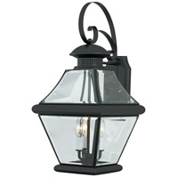 Quoizel Lighting Rutledge 3 Light Outdoor Wall Lantern in Mystic Black RJ8411K