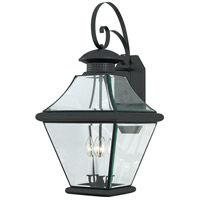 Quoizel Lighting Rutledge 4 Light Outdoor Wall Lantern in Mystic Black RJ8414K