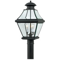 Quoizel Lighting Rutledge 3 Light Outdoor Post Lantern in Mystic Black RJ9011K