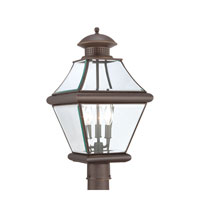 Quoizel Lighting Rutledge 3 Light Outdoor Post Lantern in Medici Bronze RJ9011Z