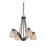 Quoizel Lighting Radcliff 4 Light Chandelier in Western Bronze RL5104WT