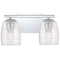 Quoizel RLM8602C Realm 2 Light 14 inch Polished Chrome Bath Light Wall Light, Medium