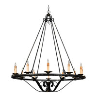 Quoizel Lighting Messina 12 Light Chandelier in Serengeti Black And Mayan Gold Leaf RME5512SM photo thumbnail