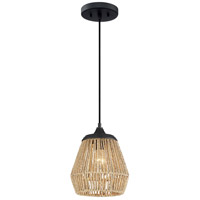 Quoizel RMI1509EK Romain 1 Light 9 inch Earth Black Mini Pendant Ceiling Light