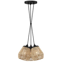 Romain 3 Light 15 inch Earth Black Pendant Ceiling Light