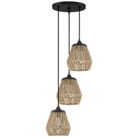 Romain 3 Light 14 inch Earth Black Pendant Ceiling Light