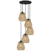 Romain 5 Light 19 inch Earth Black Pendant Ceiling Light