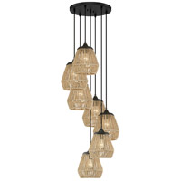 Quoizel RMI2707EK Romain 7 Light 20 inch Earth Black Pendant Ceiling Light
