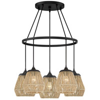 Romain 5 Light 27 inch Earth Black Chandelier Ceiling Light