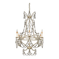 Quoizel Lighting Marseille 6 Light Chandelier in Antique Silver Leaf RMS5006AH photo thumbnail