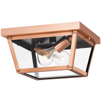 Rue De Royal 2 Light 12 inch Aged Copper Outdoor Flush Mount