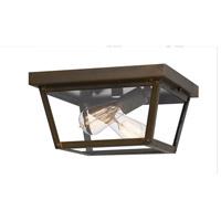 Quoizel RO1612IZ Rue De Royal 2 Light 12 inch Industrial Bronze Outdoor Flush Mount