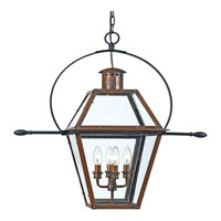 Quoizel RO1914AC Rue De Royal 4 Light 28 inch Aged Copper Outdoor Hanging Lantern alternative photo thumbnail
