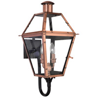 Quoizel Lighting Rue De Royal 2 Light Outdoor Wall Lantern in Aged Copper RO8311AC