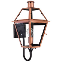 Quoizel Lighting Rue De Royal 1 Light Outdoor Wall Lantern in Aged Copper RO8410AC
