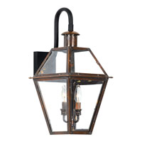 Quoizel RO8411AC Rue De Royal 2 Light 22 inch Aged Copper Outdoor Wall Lantern alternative photo thumbnail
