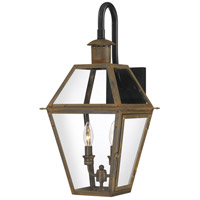 Quoizel RO8411IZ Rue De Royal 2 Light 23 inch Industrial Bronze Outdoor Wall Lantern