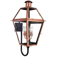 Quoizel Lighting Rue De Royal 4 Light Outdoor Wall Lantern in Aged Copper RO8414AC