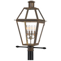 Quoizel RO9014IZ Rue De Royal 4 Light 26 inch Industrial Bronze Outdoor Post Lantern