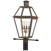 Quoizel RO9014IZ Rue De Royal 4 Light 26 inch Industrial Bronze Outdoor Post Lantern