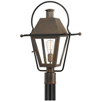 Quoizel RO9018IZ Rue De Royal 1 Light 23 inch Industrial Bronze Outdoor Post Lantern