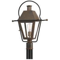 Quoizel RO9018IZ Rue De Royal 1 Light 23 inch Industrial Bronze Outdoor Post Lantern