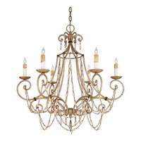Quoizel Lighting Savigne 6 Light Chandelier in Antique Silver Leaf And Ancient Brass RSV5006AF photo thumbnail