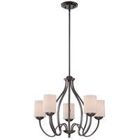 Quoizel Signature 4 Light Foyer Light in Mottled Black RVE5005PA