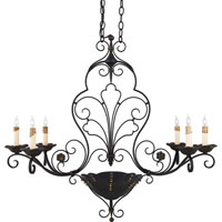 Quoizel Lighting Avignon 6 Light Island Light in Serengeti Black And Mayan Gold Leaf RVG636SM