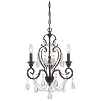 Quoizel Riverton 3 Light Dinette Chandelier in Vintage Gold RVN5303VG
