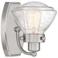 Quoizel SCH8601BN Scholar 1 Light 8 inch Brushed Nickel Bath Light Wall Light
