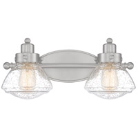 Quoizel SCH8602BN Scholar 2 Light 18 inch Brushed Nickel Bath Light Wall Light