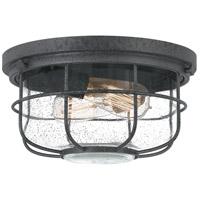 Quoizel SDA1612DO Saluda 2 Light 12 inch Distressed Iron Outdoor Flush Mount Lantern