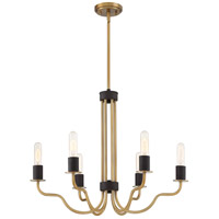 Stride 6 Light 26 inch Weathered Brass Chandelier Ceiling Light