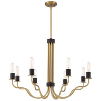 Stride 8 Light 32 inch Weathered Brass Chandelier Ceiling Light