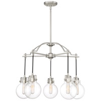 Sidwell 5 Light 26 inch Brushed Nickel Chandelier Ceiling Light
