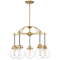 Sidwell 5 Light 26 inch Weathered Brass Chandelier Ceiling Light
