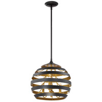 Stadium 3 Light 14 inch Mystic Black Pendant Ceiling Light