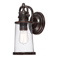 Quoizel Steadman 1 Light Outdoor Wall Lantern in Imperial Bronze SDN8405IBFL